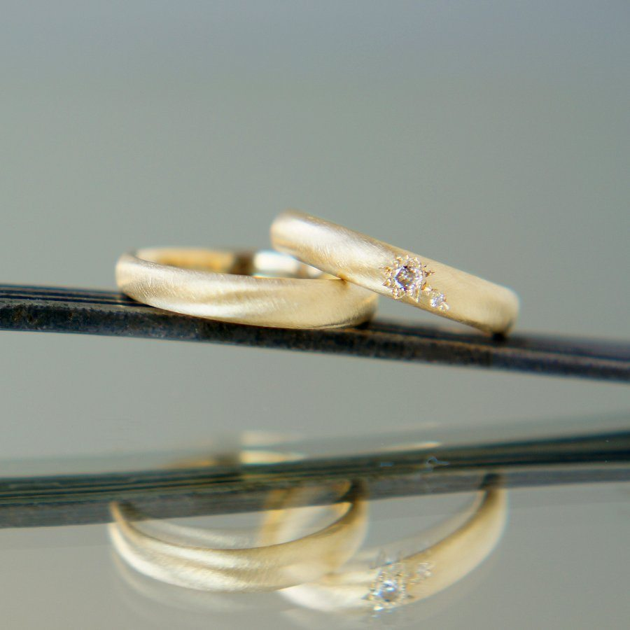 結婚指輪OLJEI Deux star ring