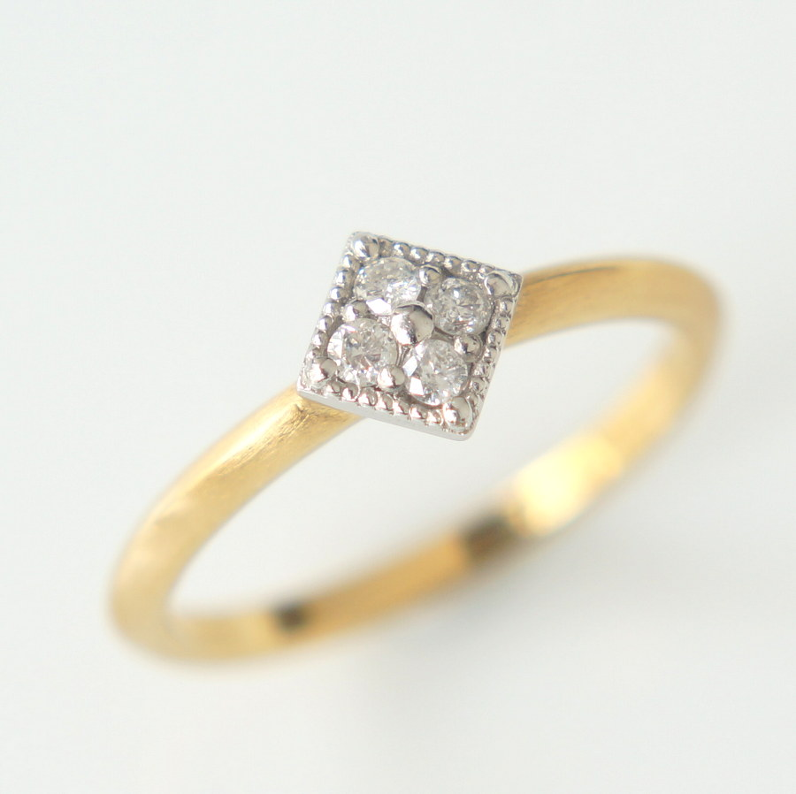 婚約指輪 名古屋 HOLIC SQUARE PAVE RING