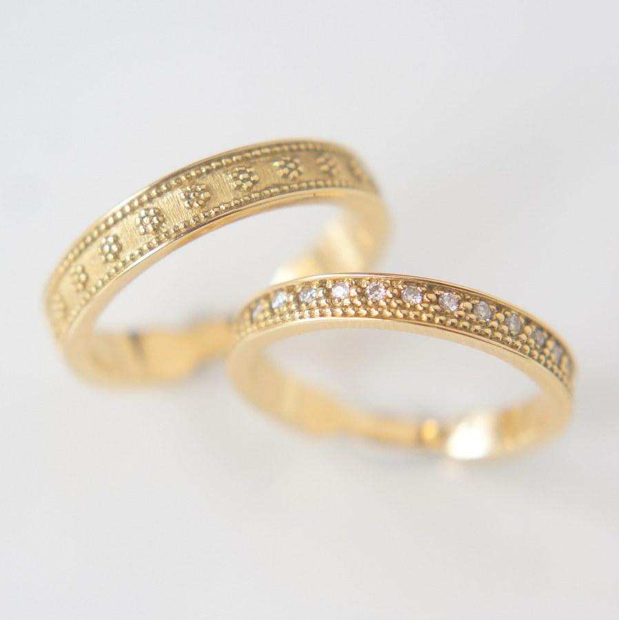 結婚指輪Granulation marriage ring